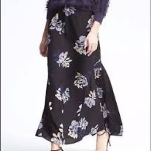 Fishtail chiffon maxi work skirt